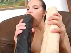 solo, coquins, insertion, masturbation, godes, jouets, godes, brunettes