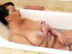 bathroom, big, tits, natural, ainsley addison, europeans, milf, brunette