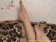 pantyhose, fetish, foot, solo