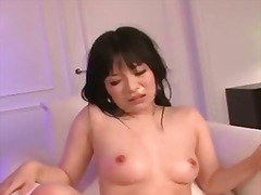 Hina maeda uses a dildo to make her pussy hum as her fuck buddy comes in