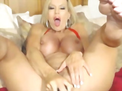 Big tits milf pounds her pussy with dildo hd