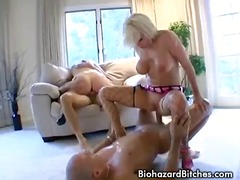 Two horny sluts get double peneration