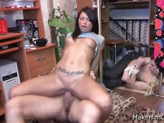coed, outfit, handjob