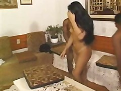 latine, culo, menage a tre, brunette