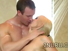 blonde, titjob, huge, big ass, tits, ass, milk, natural, busty, boobs, massage, soapy, small tits, big cock, bath, babe
