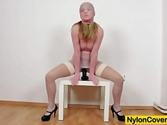 crossdresser, foot fetish, masturbation, piercing, uniform, babe, face, heels, oil, squirt, petit, fantasy, lingerie