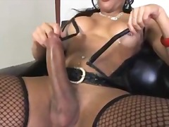 shemale, compilation, stockings, masturbation