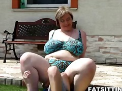 bbw, big cock, milk, small tits, big boobs, titjob, nipples, outdoor, outdoors, big