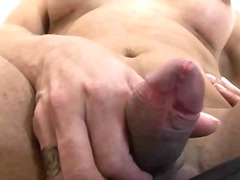 ejaculation, shemale, big boobs, jerking, tits, cock, stroking, handjob, small, penis, masturbation