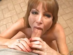 darla crane,  ejaculation, nipples, big boobs, jerking, stroking, busty, penis, brunette, small tits, handjob