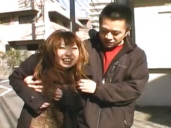 Cute asian gets fucked in the streets