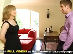 Cougar nina hartley invites internet friends over for a fuck