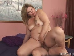 penetration, drilled, mom, hungry, old, lady, fat, older, hardcore
