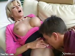 fucking, blonde, mature, boy, teacher, mom