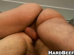 Jock gives a blowjob before getting fucked by hunk