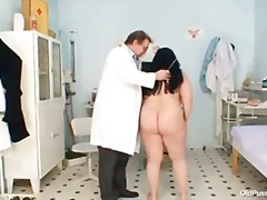 exam, older, old, grandma, plump, fat, mature, clinic, milf, granny