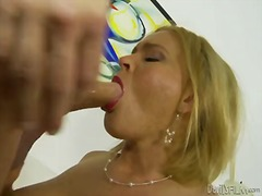 Busty and hot milf blonde krissy