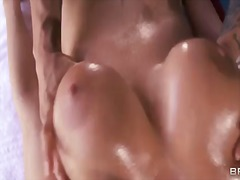 Missy martinez loves when her big boobs are oiled