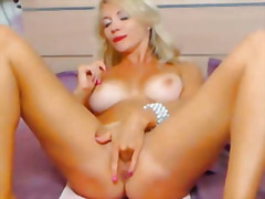 busty, tight, big boobs, pussy, blonde, wet, dildo