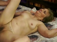 mom, vaginal, grandma, granny, old, hungry, penetration, drilled, pussy, boy, oldies, hardcore, older, fucking