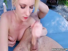 White-haired babe kyleigh ann with beautiful