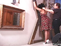 mature, fetish, brunette, housewife, spanking, pantyhose, bondage, bdsm