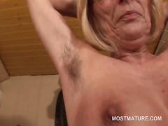 mom, milf, older, granny, blonde, mature, masturbation