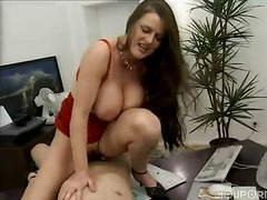threesome, style, tits, milf, brunette, office, doggy, big