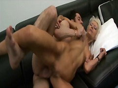 French granny loves anal by young cock