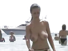 big, beautiful, woman, topless, hidden, europeans, bounce
