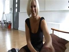 milf, blond, hand job