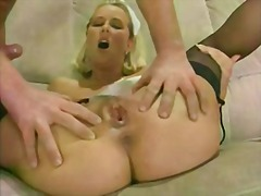 8 guys 1 girl creampie gangbang +cum eating
