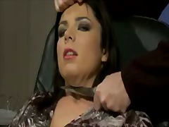 Hardcore fuck with a sexy babe rita cross, rye and sybelle watson in the office