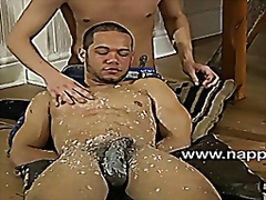 Bound nathaniel bronze gets his cock teased