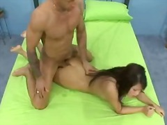 Annie lee acquires her constricted oriental beaver bashed by meaty cock and face sprayed