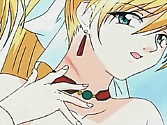 Superb blonde hentai girl cunt licked and nailed in close-up
