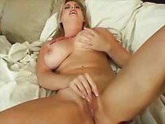 vaginal, masturbation, big, tits, blonde, toys, solo