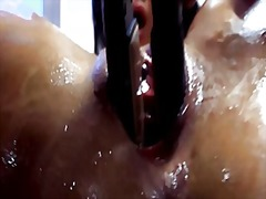 piercing, vaginal, shaved, couple, shot, cum, masturbation, toys, brunette, caucasian, fisting, facial,