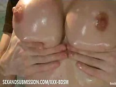 milf, babe, boobs, brunette, bdsm, machines, bondage, tits, busty, water, big