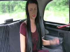 Faketaxi: youthful hotty with hot tattoos in backseat creampie