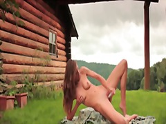 dildo, outdoor, skinny, outdoors, beautiful, orgasm, solo, eufrat, masturbation, strip, czech, shaved, erotic, outside
