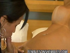 Dany de castro - blonde shemale fucking a hot female