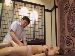 Pretty jap rides a dong in hidden cam massage video