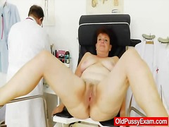mature, hospital, fat, gaping, euro, closeup, hairy, cervix, speculum, milf, doctor, close-up, granny, pussy, enema, check, mom, big ass, old