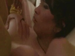 Two brunette shemale babes getting fucked anally