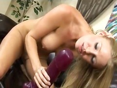kink, masturbation, insertion, solo, europeans, dildo, toys, blonde, brutal
