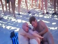 hubby, stranger, share, wife, beach, more, watching