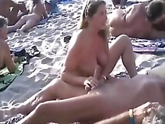 swingers, stranger, husband, handjob, beach, masturbation, woman, more