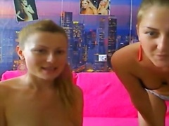 2 allies doing web camera show for their cyber buddies