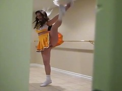 Sexy cheerleader holly michaels pounded